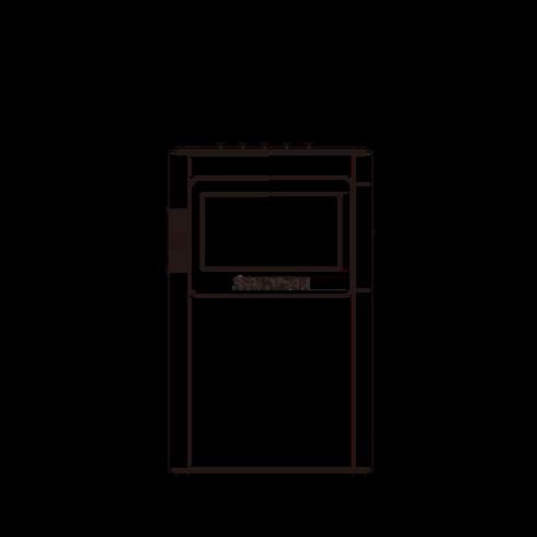 DT-160 디지털 휴대용 라디오 정면