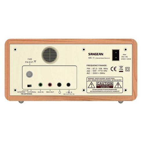 Sangean-WR-11-TableTop-Radio-Back